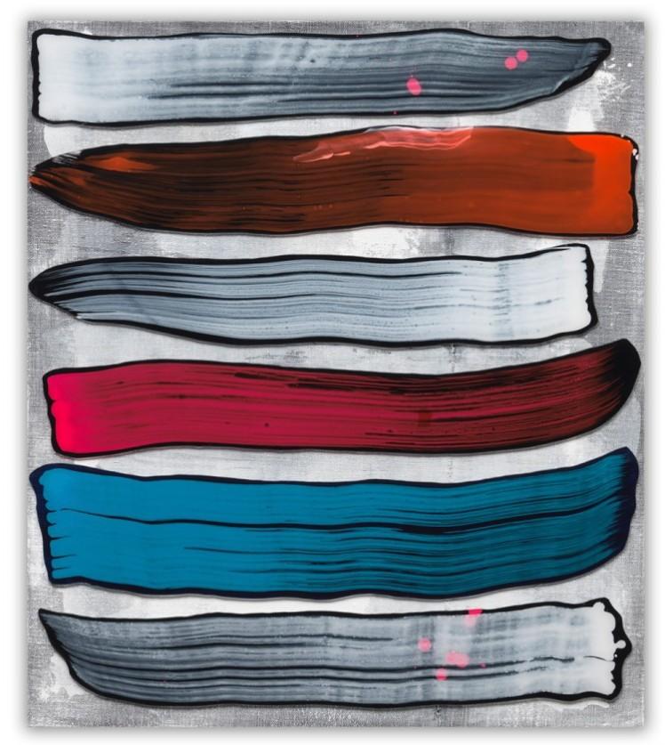 GKWF 28, 2015, Acrylglas, Acrylfarbe, Vinylfarbe auf Leinwand, 80 x 70 cm