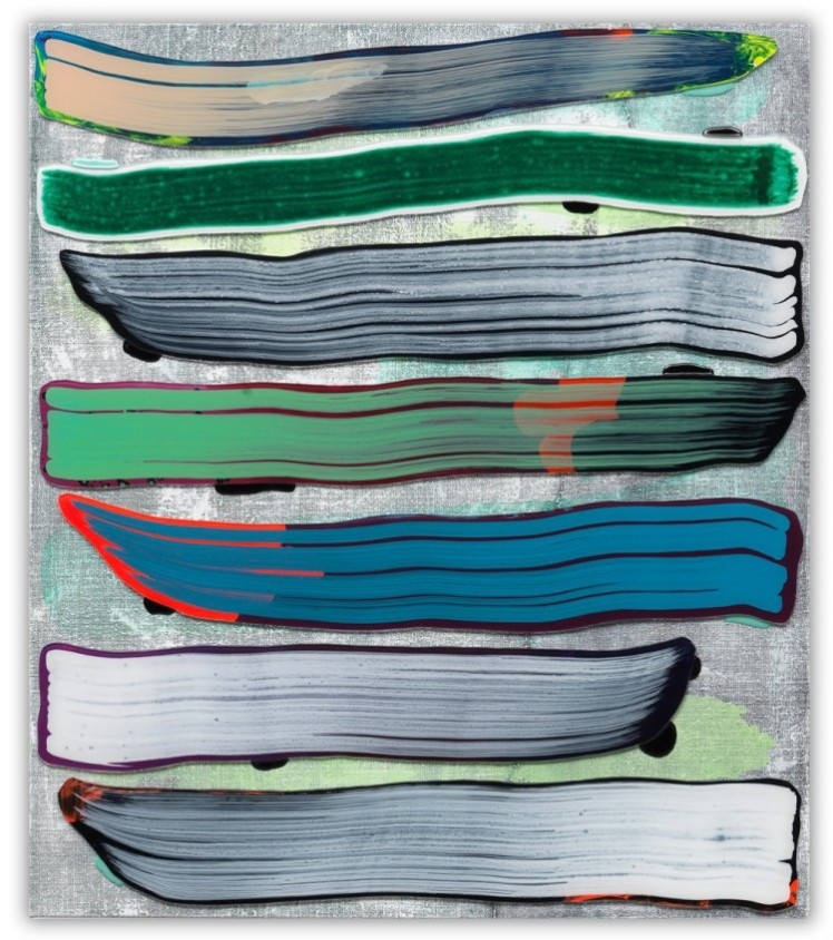 GKWF 29, 2015, Acrylglas, Acrylfarbe, Vinylfarbe, Epoxidharz auf Leinwand, 80 x 70 cm