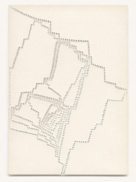 Katharina Hinsberg, Ajouré, 2014, Papier, geschnitten, 15 x 10,5 cm, gerahmt, Foto: Niels Schabrod