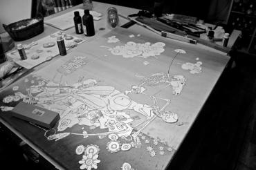 Vorbereitungen im Atelier