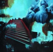Christian Jaeschke - Am Abgrund | Acryl und Öl auf Leinwand | 140 x 140 cm | 2013