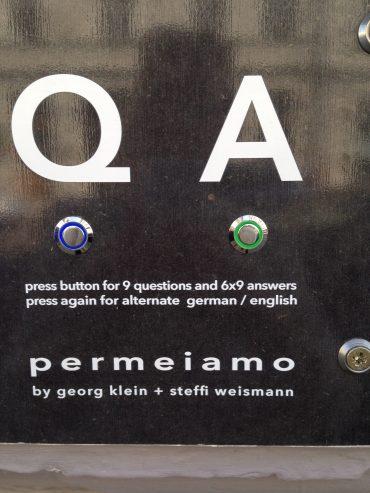 Permeiamo, Georg Klein and Steffi Weismann 2016