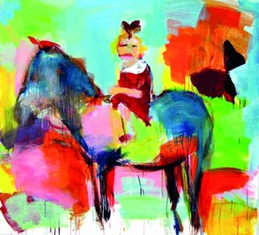 Petra Beeking - Rappe | Acryl auf Leinwand | 100x120cm | 2012