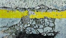 Stefan Bircheneder - Grenzgelb5 | Oel auf Leinwand | 165x95cm | 2013