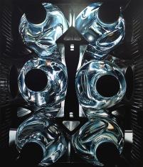 Agnieszka Kaszubowska - S.E.18 Malerei Kosmoswasserkasten, 2015, 200 x 170cm, Öl auf Leinwand