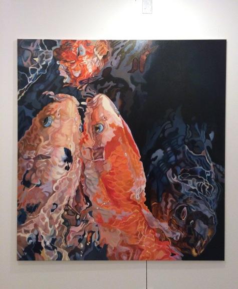 Hanne Kroll - Seeungeheuer, 2016, Öl auf Leinwand, 160 x 160 cm