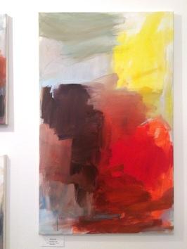 Margret Kube - Subversion rot III, 2015, Acryl auf Leinen, 100 x 60 cm