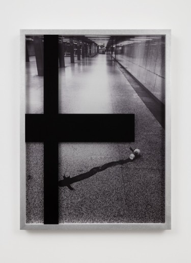 Josephine Meckseper, Untitled (Subway), 4 of 12, 3 AP, Pigment print on anodized aluminum, pigment print on acrylic sheeting 23 x 17 5/16 in (58.42 x 43.94 x 0 cm)