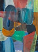 Christine Gläser, Schlinge, 2016, Eitempera auf Leinwand, 150 x 110 cm