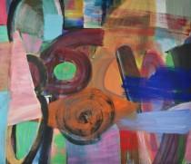 Christine Gläser, Sechseins, 2015, Eitempera auf Leinwand, 130 x 150 cm