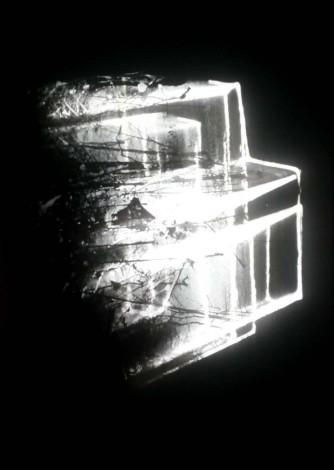 Magdalena Jetelová, Lichtzeichnung, 1989, Lightbox, Diasec, 120 x 77 x 4 cm
