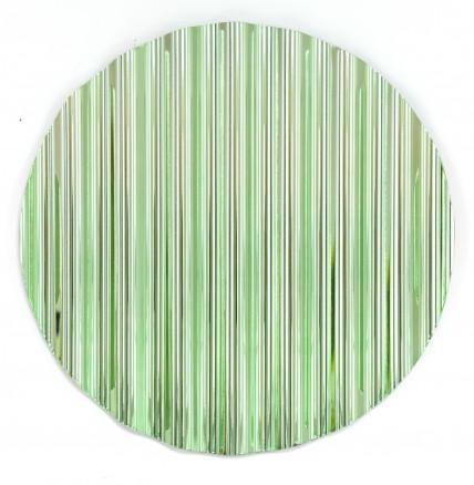 Xaver Sedelmeier, Schutzschild grün (Serie aus 12 verschiedenfarbigen Wellblechen), Wellblech, metallisiert, ø 60 cm, Foto: Burkhardt Hellwig