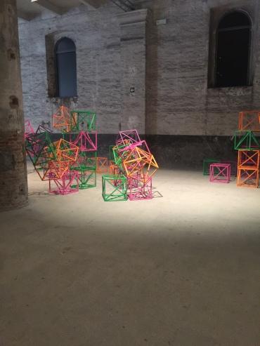 Rasheed Araeen - Zero to Infinity in Venice, 2016-17 Painted wood * 1935 Pakistan, lives in London Pavilion of the Common | 57th International Art Exhibition — la Biennale di Venezia