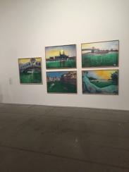 Nicolás García Uriburu - Video of a performance; and images, pastel on photograph, 1970 1937 - 2016 Argentina Pavilion of the Earth | 57th International Art Exhibition — la Biennale di Venezia