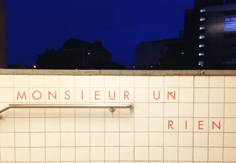 Françoise Shein and Barbara Reiter's project Inscrire at the Westhafen Ubahn station, in Berlin